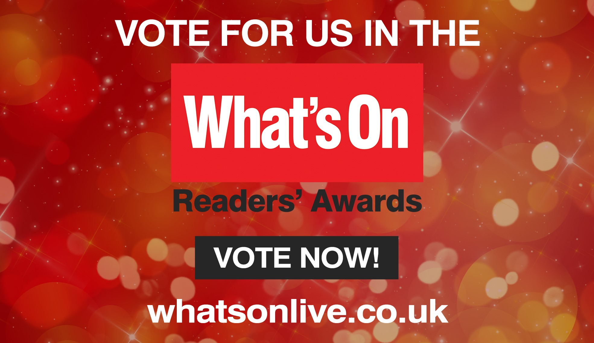 Lichfield Garrick shortlisted for What's On Readers Awards 2019 Finals in THREE Categories!